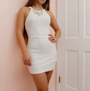 White Lace mini dress size S Forever 21